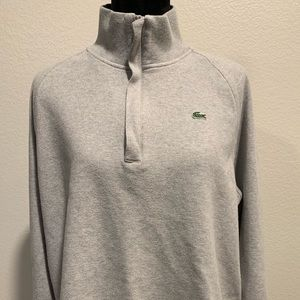 Lacoste Men's Zip Ribbed Interlock Sweatshirt
